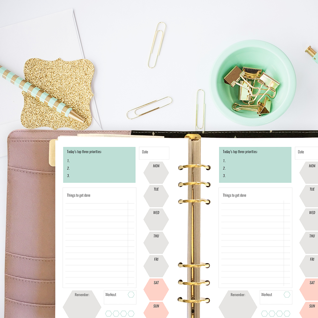 Free printable planner inserts for large planners plus for Designer planners