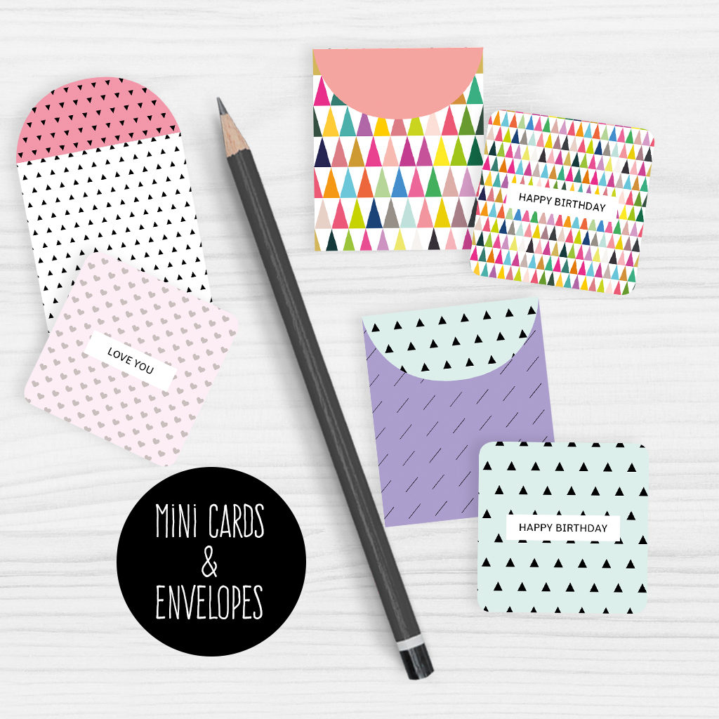 Printable Mini Note Cards