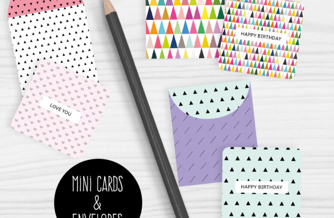 Mini note cards and envelopes free printable