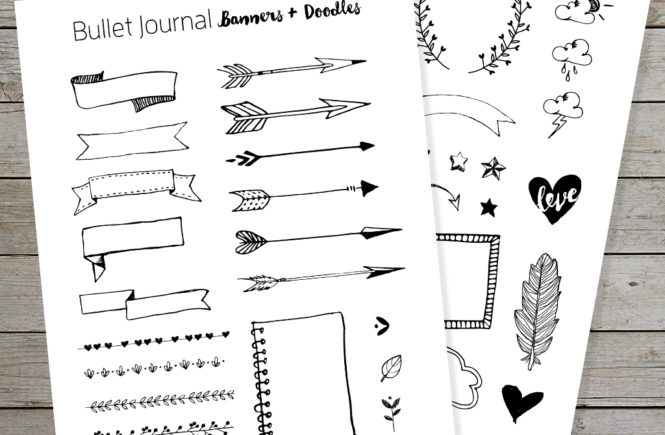 image relating to Printable Banners referred to as Free of charge Bullet Magazine Printable Banners and Doodles