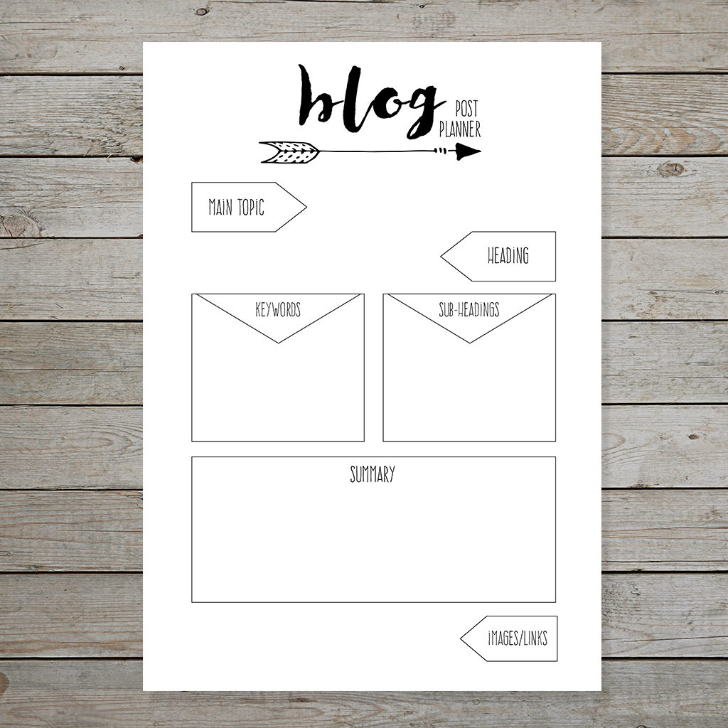 Free bullet journal printable blog planner layouts