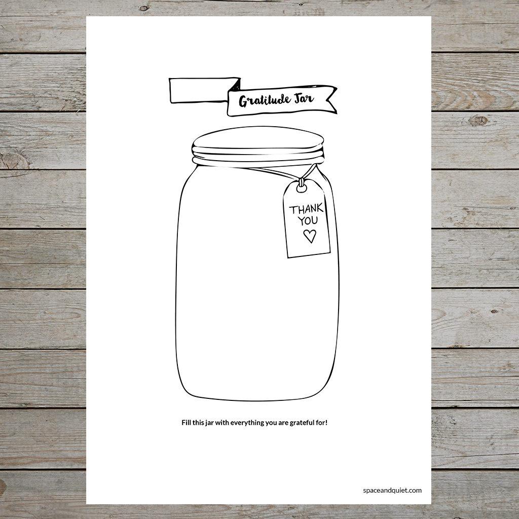 Free bullet journal printable - Gratitude Jar