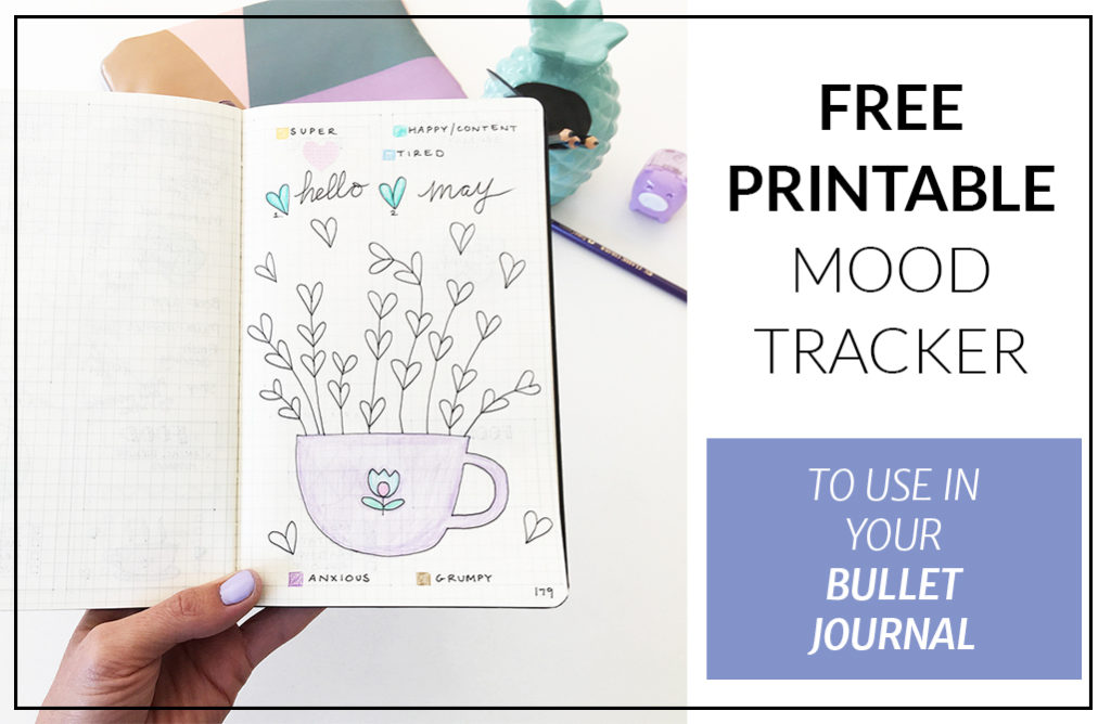 photo about Mood Tracker Bullet Journal Printable referred to as Printable Temper Tracker for Bullet Magazine - No cost Down load