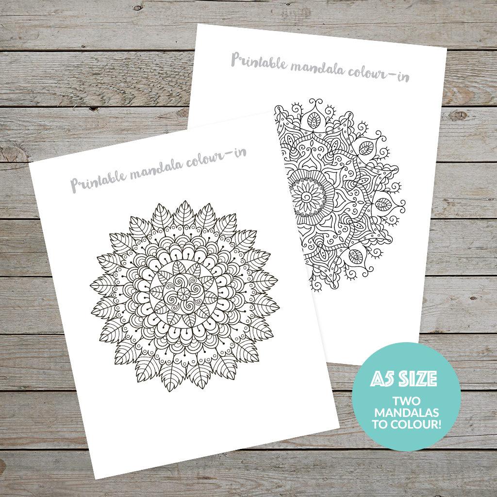 Planner Printable - Mandalas to colour
