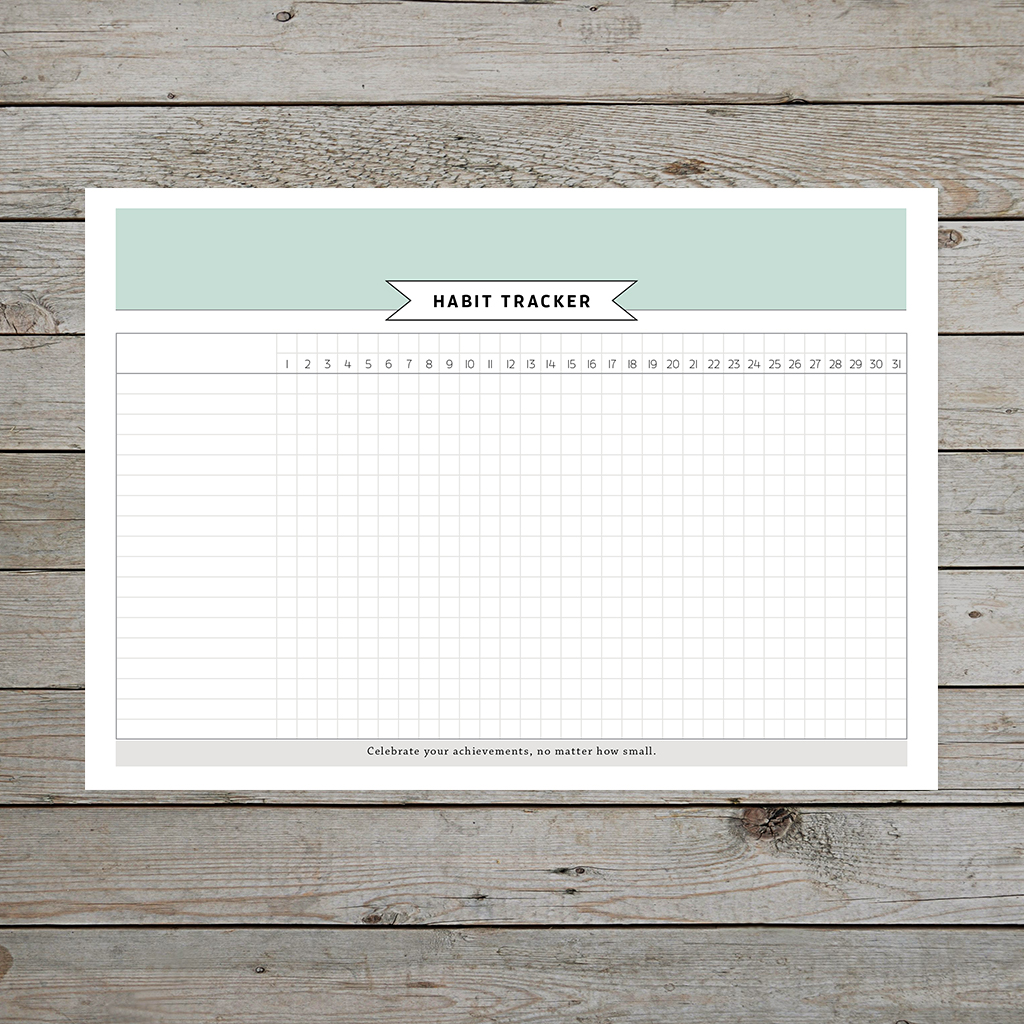 Free printable habit tracker for bullet journaling or A5 planners