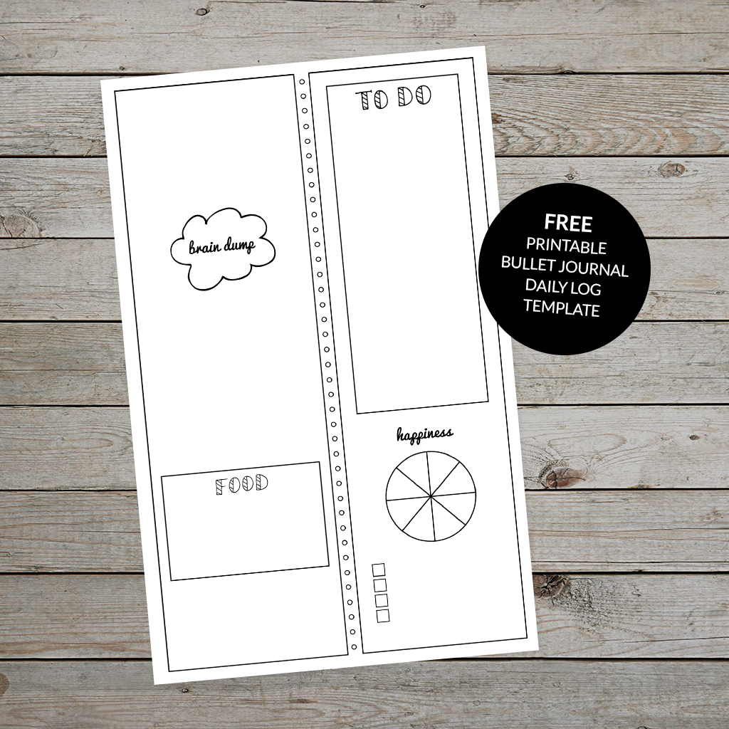 Bullet Journal Daily Log Free Printable Template Plus Tips