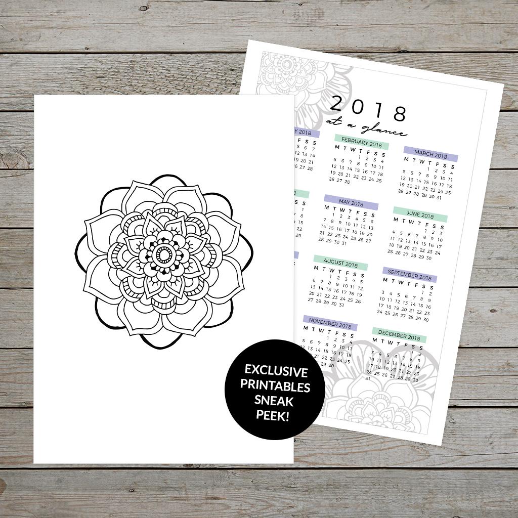 Sneak peek of exclusive December printable planner kit