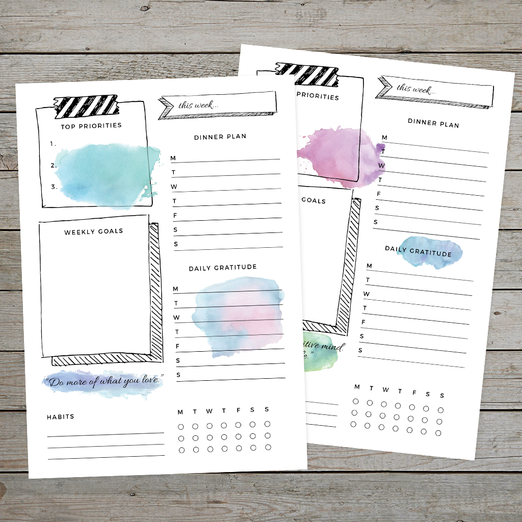 Download and print your bullet journal weekly log