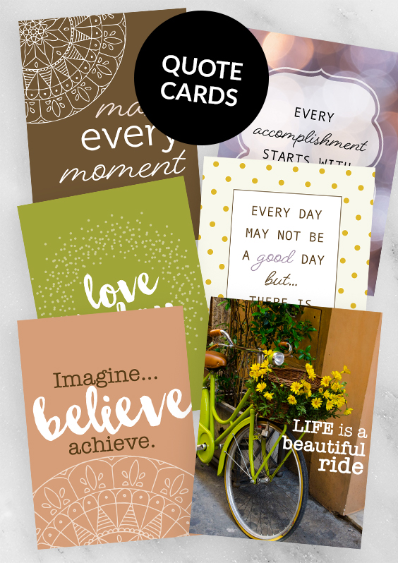 Exclusive printable quote cards for April