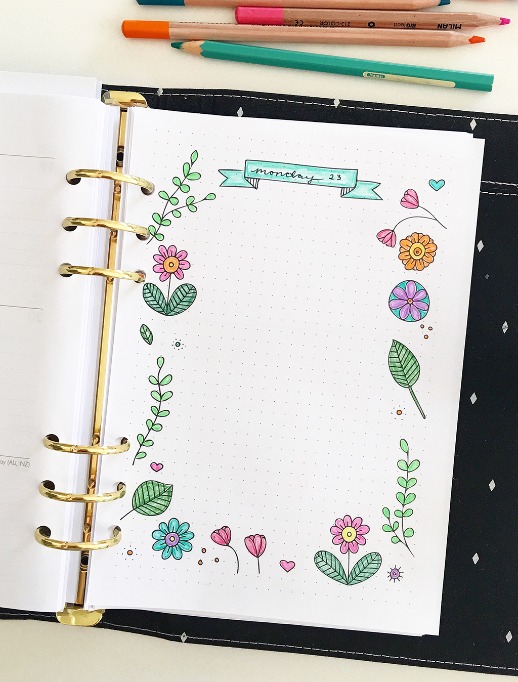 Printable planner insert for journaling