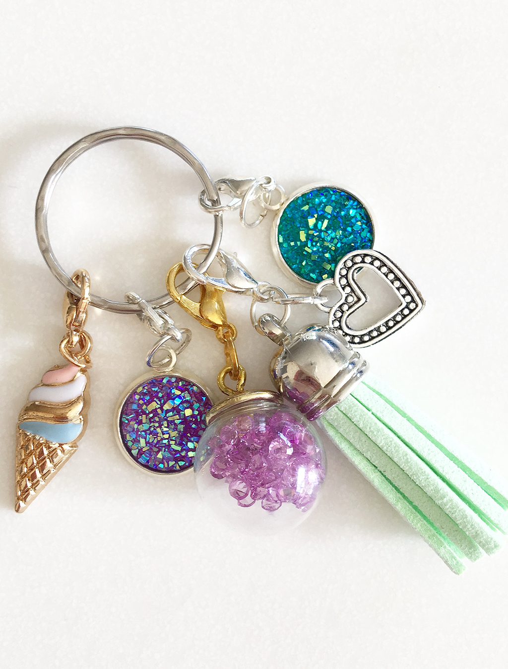 Plan Addict Planner charms on keyring