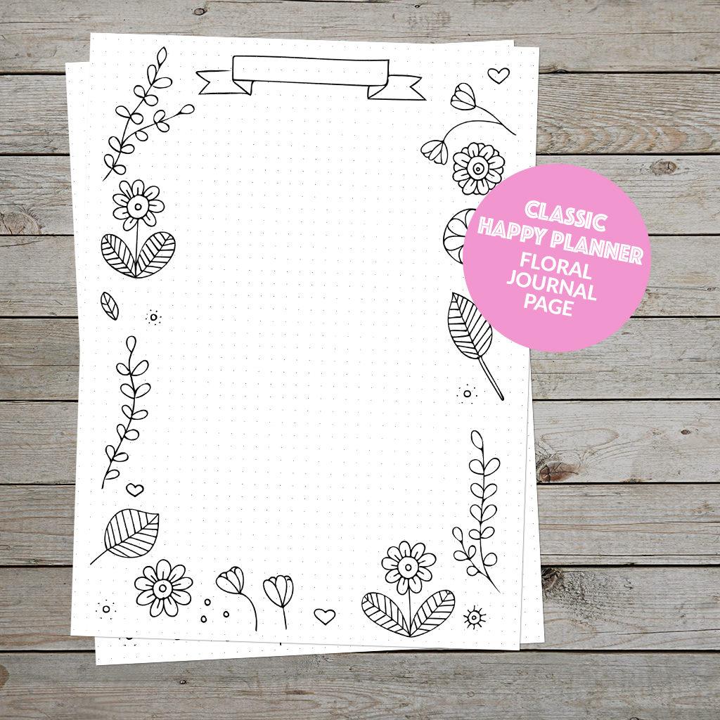 Happy Planner Floral Journal