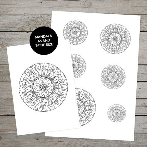 Printable Mandala Design 5 for bullet journaling and planning