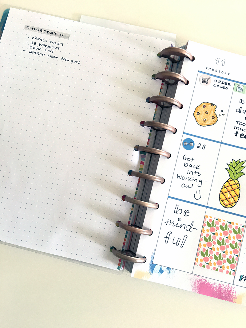Dot grid in Happy Planner