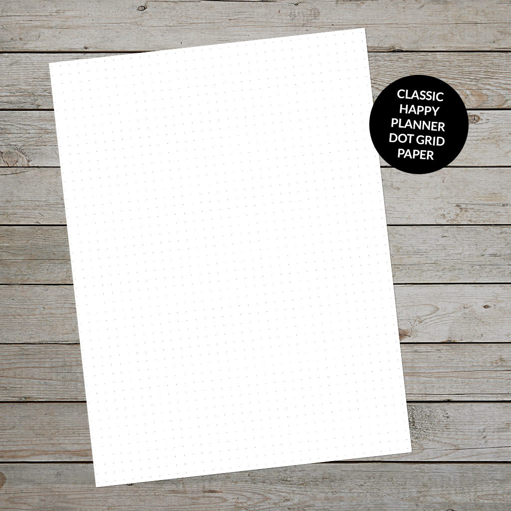 Create a Happy Planner Bullet Journal with printable dot grid paper