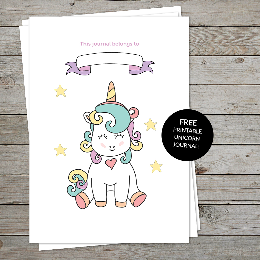 graphic regarding Journal Cover Printable called Absolutely free Printable Unicorn Magazine: Stimulate Children in the direction of Magazine